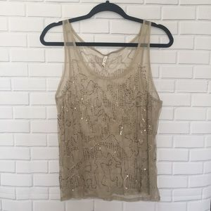Willow & Clay Sheer Beaded Top